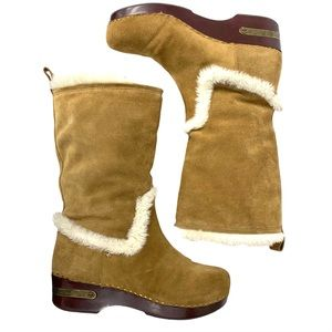 Lucky Brand Farrah Fold Over Faux Fur Suede Boots